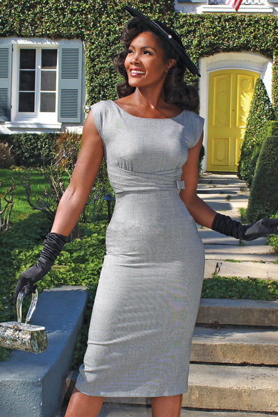 Charity Silver Fitted Dress