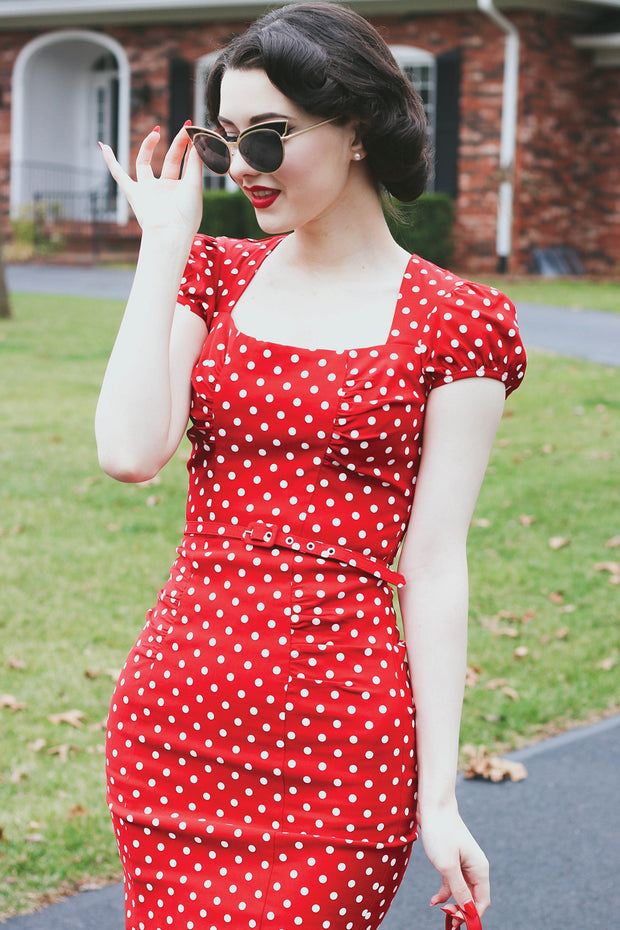 Celebrity Polka Dot Dress