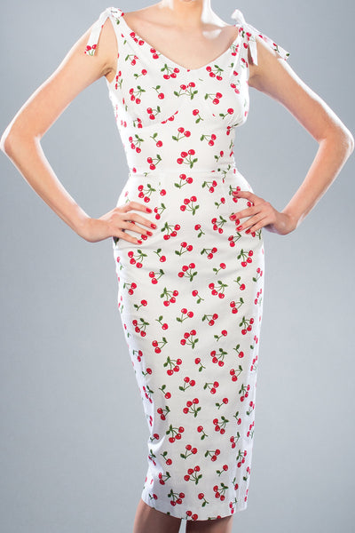 Clementine Cherry Fitted Dress