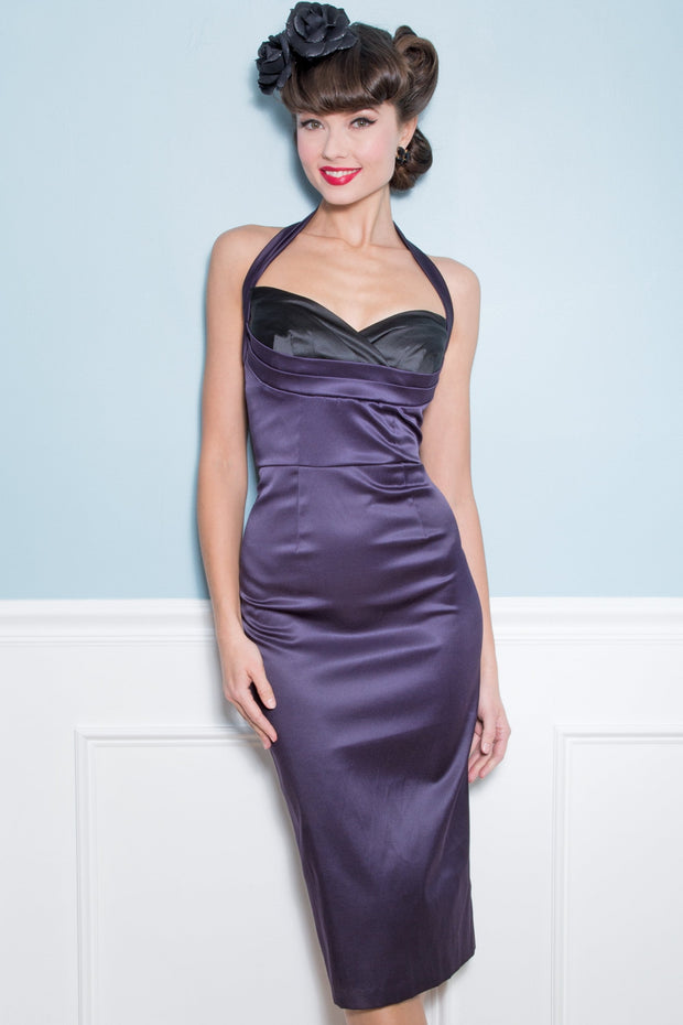 Covergirl Fitted Satin Dress