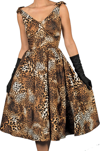 Estello Swing Dress in Leopard