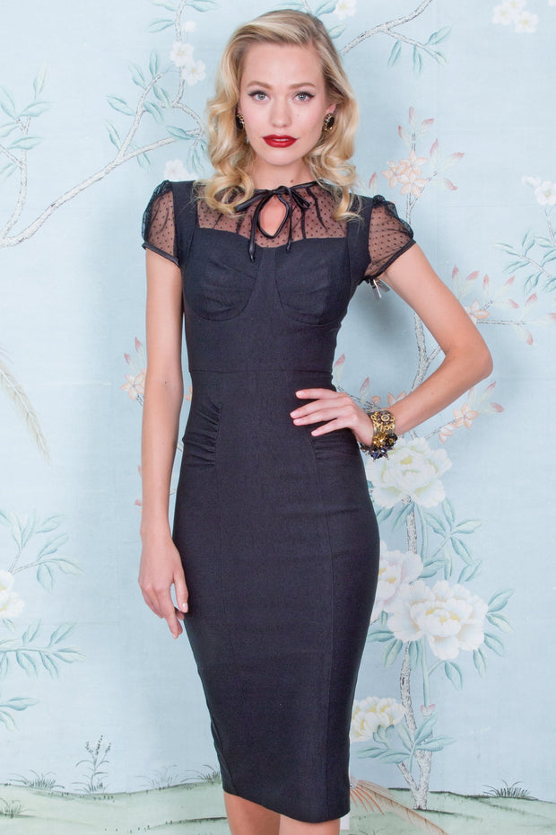 1940s Inspired Black Get Smart Little Black Dress,stopstaring.