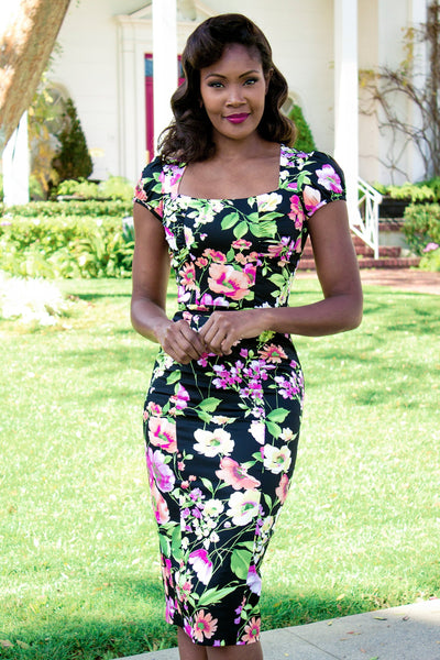 Isla Fitted Floral Dress