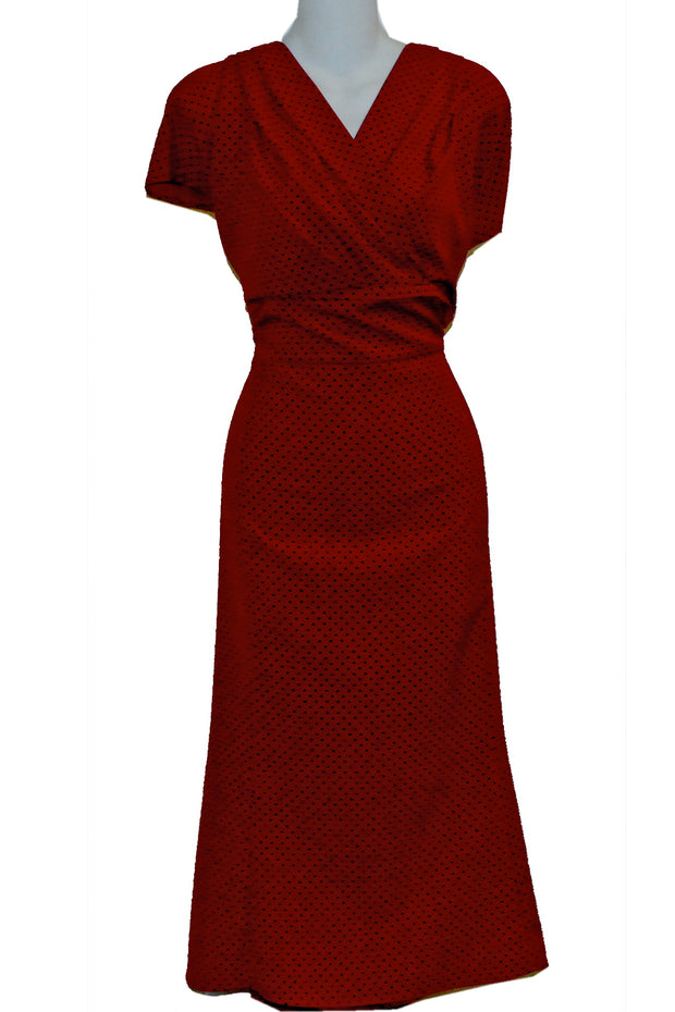 ITEM 4141 Red With Black Dot Size 4X 20