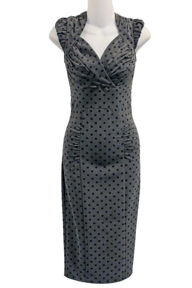 ITEM 4159 Grey Navy Dot Size 2X 16