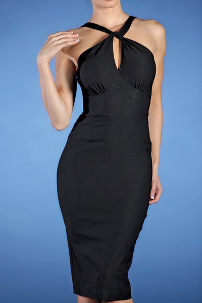 Jolie Fitted Dress Black Custom