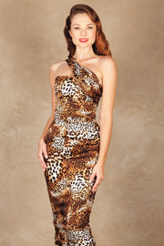 KATNESS FITTED DRESS LEOPARD  Custom