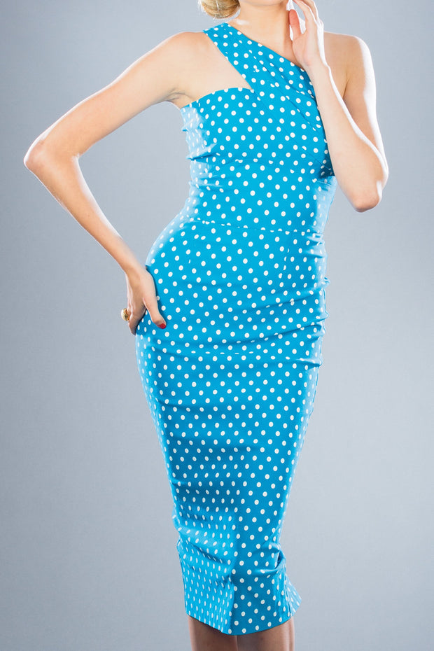Kennedy Fitted Polka Dot Dress