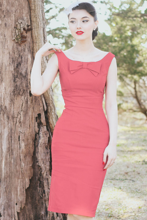 Little Coral Fitted Dress,stopstaring.