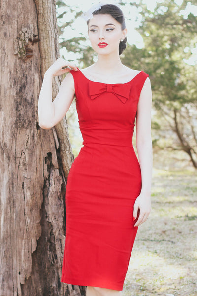 Little Red Fitted Dress,stopstaring.