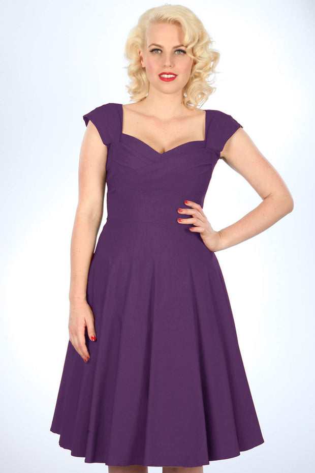 Madstyle Swing Dress Eggplant