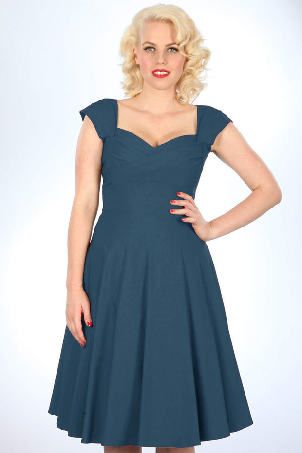 Madstyle Swing Dress Peacock Blue
