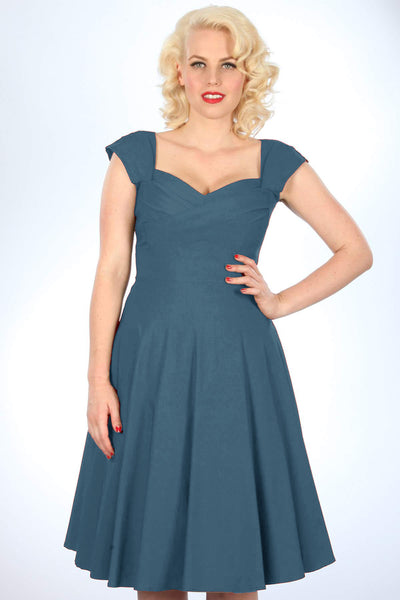 Madstyle Swing Dress Steel Blue