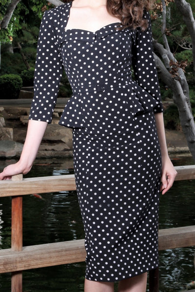 Malonia Polka Dot Dress,stopstaring.