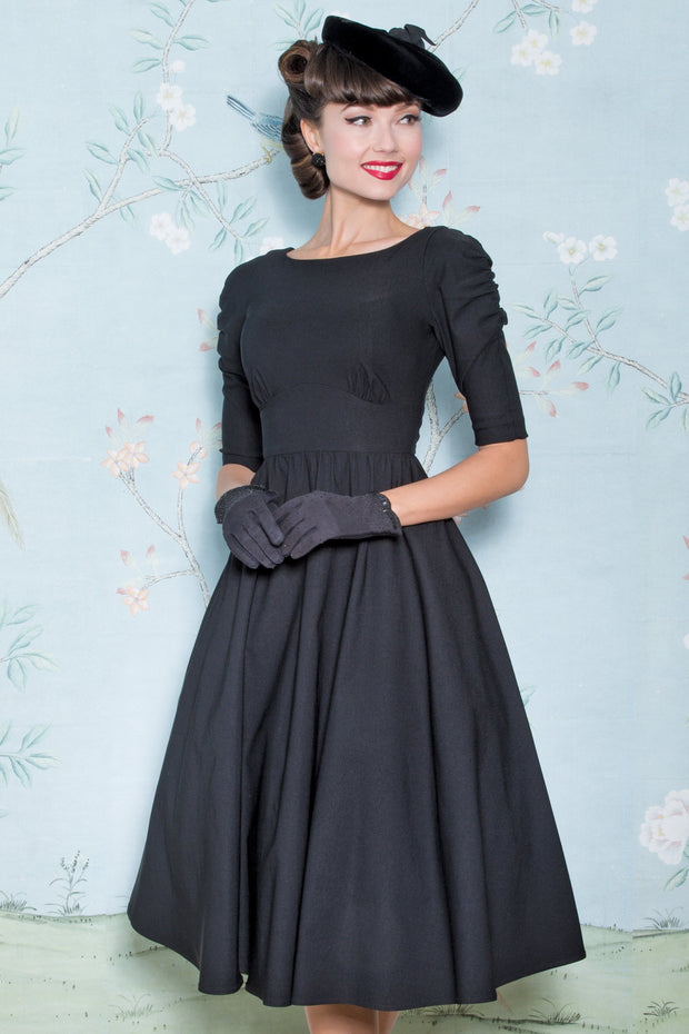 October Swing Dress in Black,stopstaring.