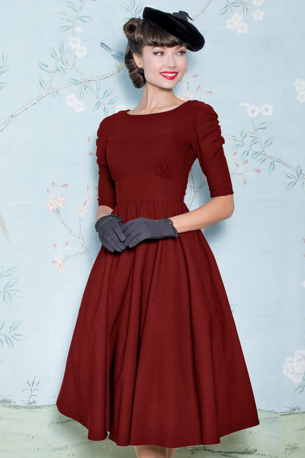 October Swing Dress in Red