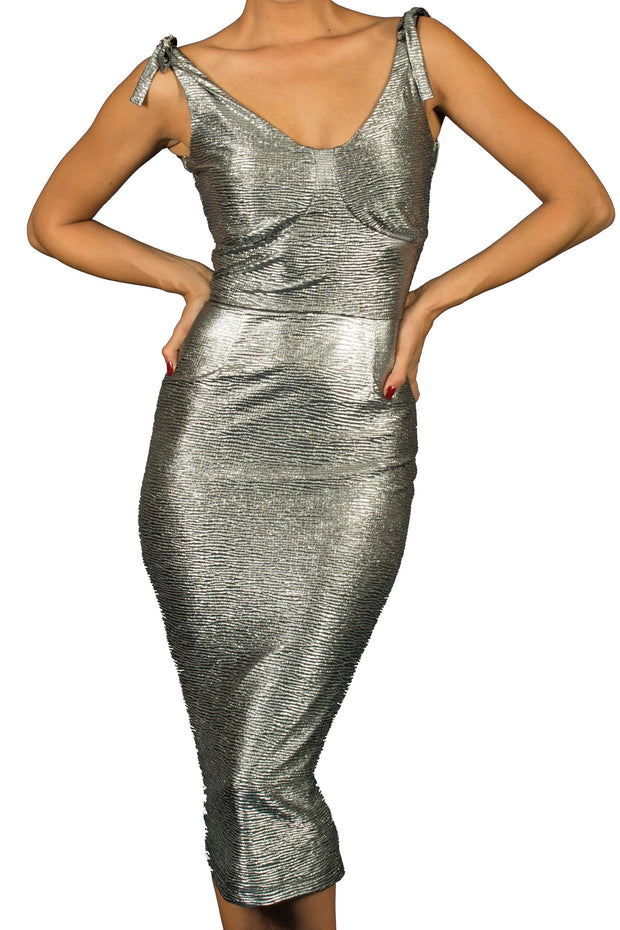 Reno Silver Dress,stopstaring.