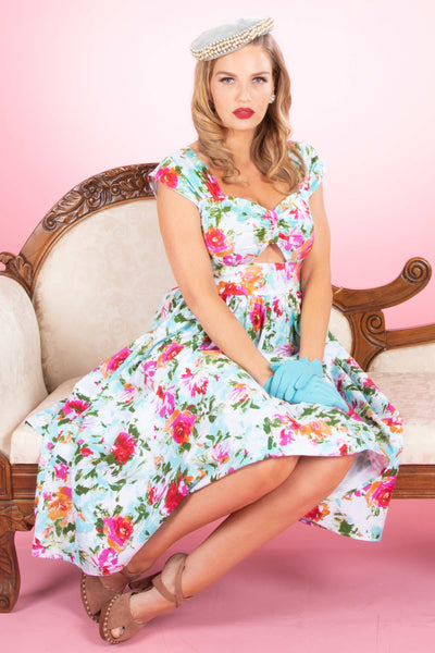 Scilia Swing Dress in Floral Print Custom