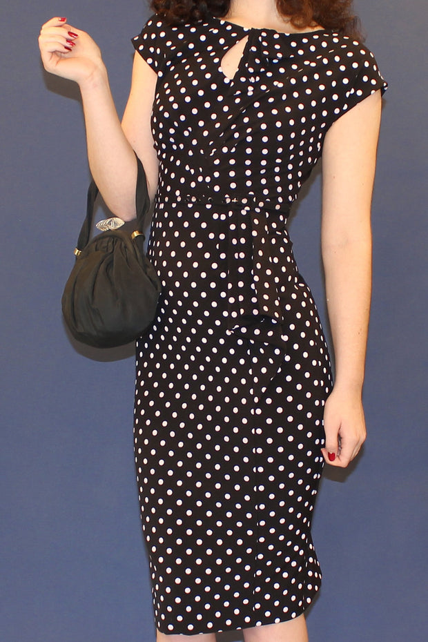 Timeless Polka Dot Fitted Dress,stopstaring.