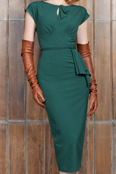 Timeless Fitted Dress Forest Green