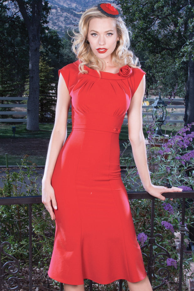 Retro Red Vacation Dress,stopstaring.
