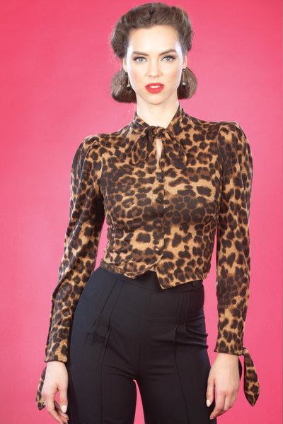 Fortuna Leopard Top,stopstaring.