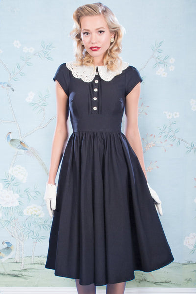 Black Swing Gladiola Dress