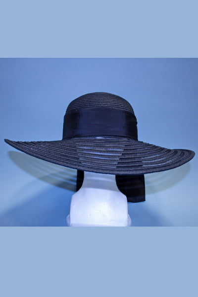 Beautiful Black  Film Noir Oversized Sun Hat