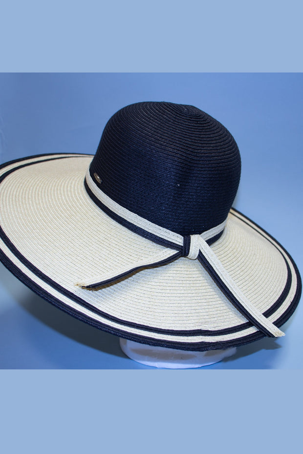 Two Tone Retro Inspired Sun Hat