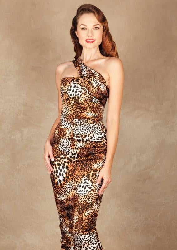 zzKATNESS FITTED DRESS LEOPARD,stopstaring.