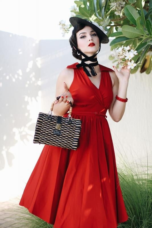 NYLAD RED SWING DRESS