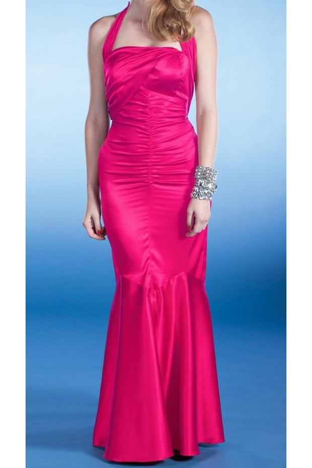 SERENA EVENING DRESS HOT PINK
