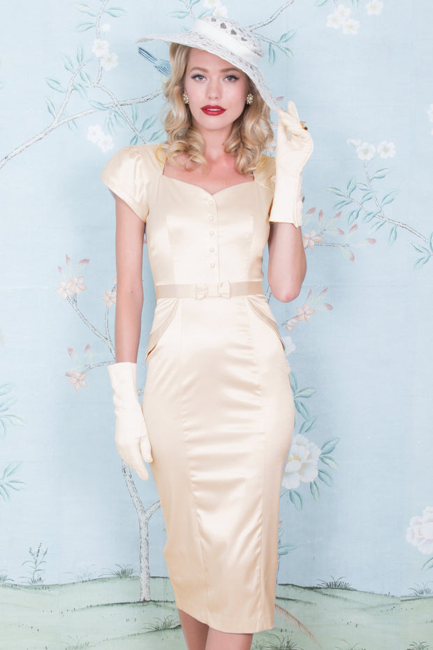 Classy 1940s Inspired Lauree Fitted Dress,stopstaring.