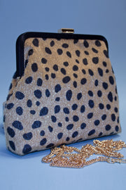 Pretty Black Cheetah Print Purse