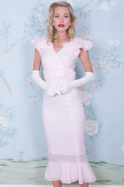 1930s Pretty In Pink Posh Dress