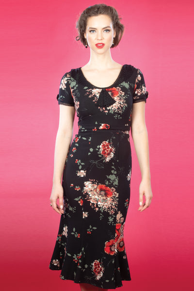 Railene Dress in Pretty Red Poppies,stopstaring.