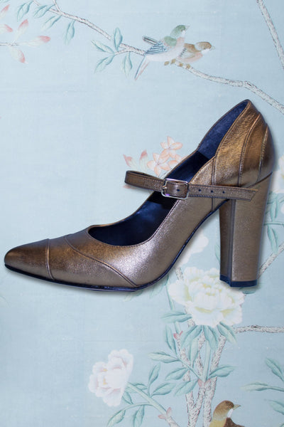 Gold 1950s Vintage Mary Jane Heels by Stop Staring!