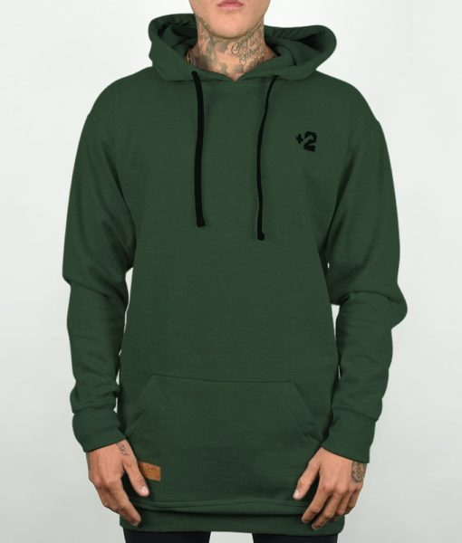 Plus 2 Forest Green Tall Hoodie