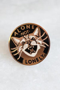 Alone Not Lonely Lapel Pin