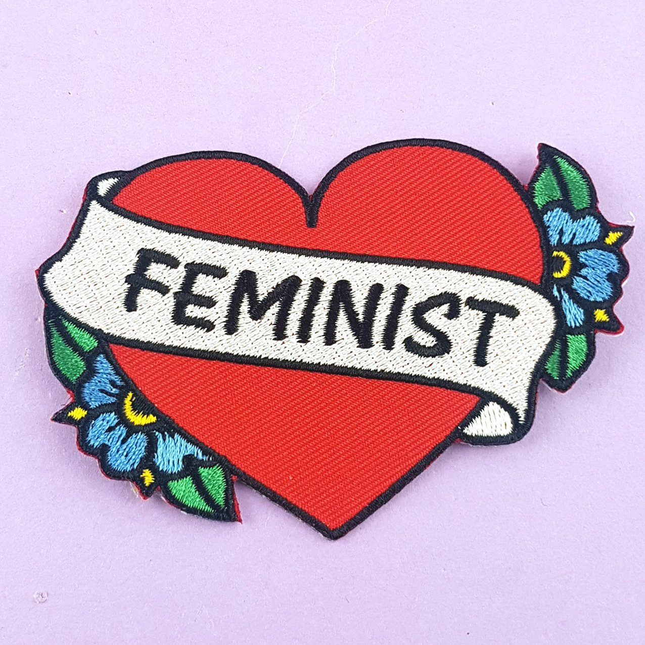 Feminist Heart Embroidered Patch