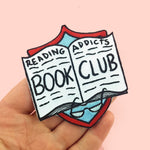 Reading Addicts Book Club Embroidered Patch