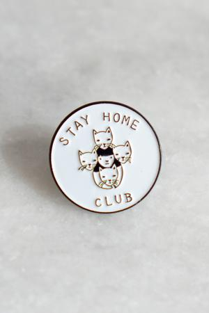 Stay Home Club Lapel Pin