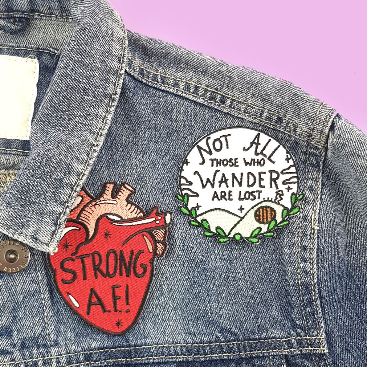 Strong A.F. Embroidered Patch