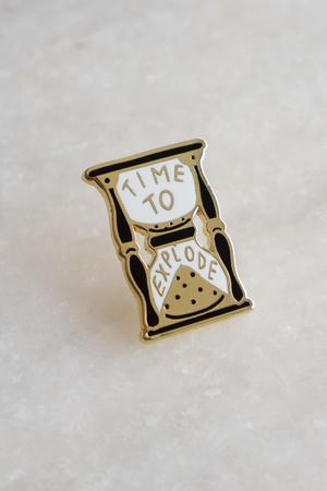 Time to Explode Lapel Pin