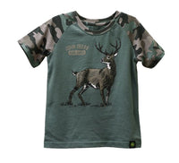 JOHN DEERE BOYS GREEN AND CAMO W/DEERE SHIRT SIZE 4   - LP72278-4
