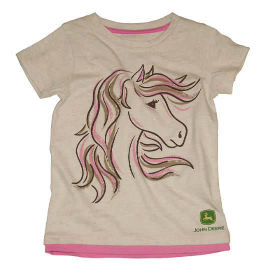 John Deere Girl Toddler Tee Pony Girls Size 2T    LP70083-2
