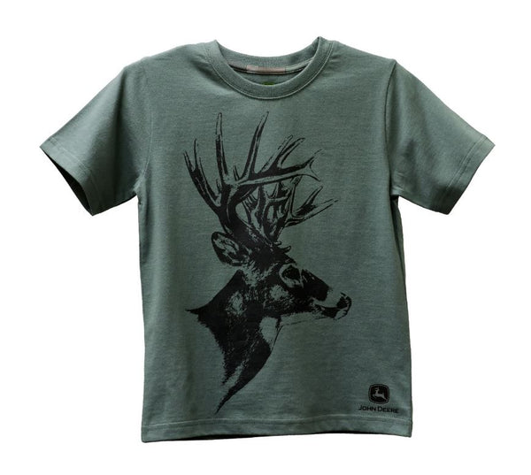John Deere Boys Shirt with Deer head Boys size 6 - LP72275-6