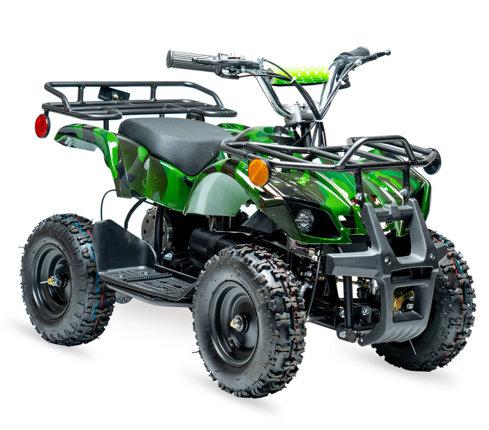 eQuad X Army Camo 800W Utility ATV 4 Wheeler for Kids