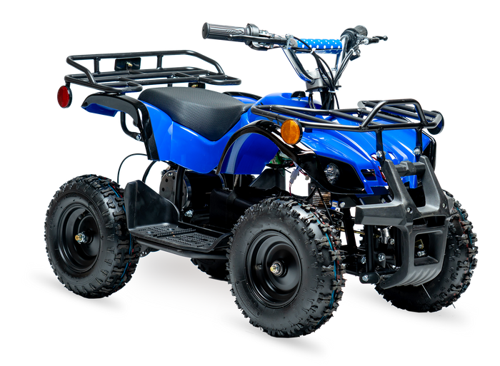 eQuad X Navy Blue 800W Utility ATV 4 Wheeler for Kids