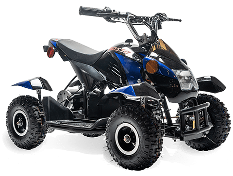 eQuad S Blue 500W ATV 4 Wheeler for Kids